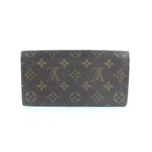 Louis Vuitton Sarah Wallet Tresor Porte Monogram Long 230869 Brown Coated Canvas Clutch