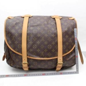 Louis Vuitton Saumur Monogram 43 Gm Saddle 869282 Brown Coated Canvas Messenger Bag