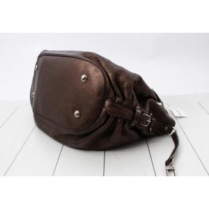 Louis Vuitton Metallic Bronze Mordore Monogram Mahina Leather XL Shoulder Bag 860878