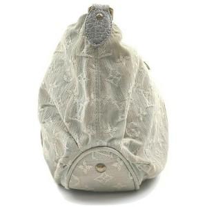 Louis Vuitton Grey Denim Monogram Slightly Shoulder Bag 861601