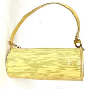 Louis Vuitton Mini Papillon Epi Soufflot Wristlet Pouch Vanilla Beige Yellow 34la53A