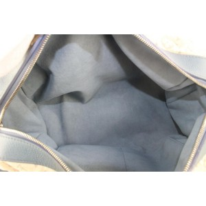 Louis Vuitton Limited Edition Blue Monogram Denim Speedy Round Bandouliere 282lvs512