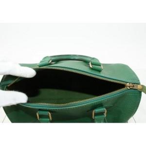 Louis Vuitton Borneo Green Epi Leather Speedy 25 Boston PM 861330
