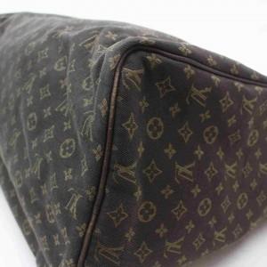 Louis Vuitton Brown Ebene Monogram Mini Lin Idylle Speedy 30 Boston 860845