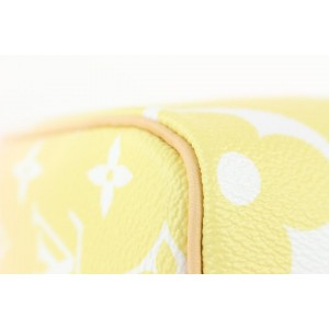 Louis Vuitton Pink x Yellow Giant Monogram By the Pool Speedy Bandouliere 25 811lvs4