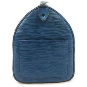 Louis Vuitton Blue Epi Leather Toledo Speedy 25 Boston Bag 863086