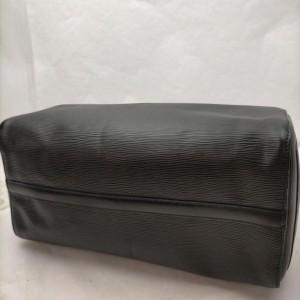 Louis Vuitton Black Epi Leather Noir Speedy 35 Boston Bag 863244