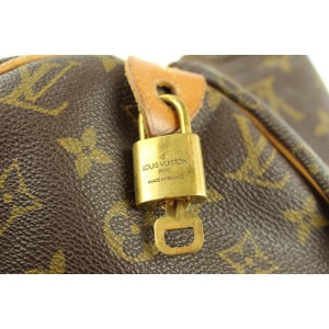 Louis Vuitton Large Monogram Speedy 40 with Lock and Key Boston GM 8L1111