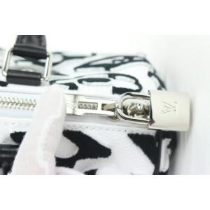 Louis Vuitton LVxUF Urs Fischer Black White Speedy Bandouliere 25 with Strap  6lvs18