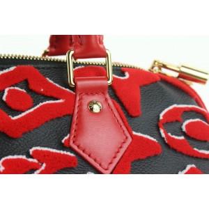 Louis Vuitton LVxUF Urs Fischer Red Monogram Speedy Bandouliere 25 Strap Bag 59lvs12