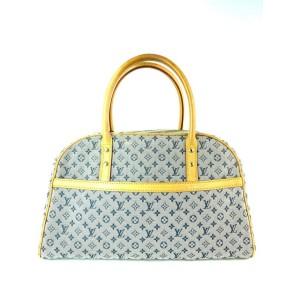 Louis Vuitton Monogram Mini Lin Marie Speedy Grey x Navy Marie 3L910