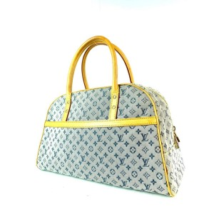 Louis Vuitton Monogram Mini Lin Marie Speedy Grey x Navy Marie 3L910