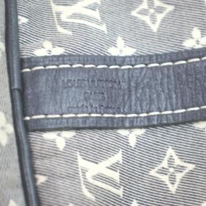 Louis Vuitton Navy Monogram Mini Lin Speedy Bandouliere 30 with Strap 863058