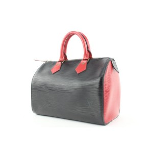 Louis Vuitton Only One Ever Made Black x Red  Epi LeatherSpeedy 25 620lvs316
