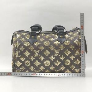 Louis Vuitton Rare Limited Gold Monogram Eclipse Speedy 28 Boston 863050