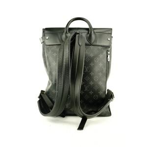 Louis Vuitton Black Monogram Eclipse Steamer Backpack 624lvs316