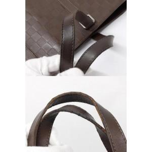 Louis Vuitton Brown Damier Infini Leather Tadao Tote 237869