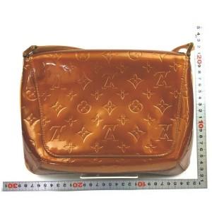 Louis Vuitton Bronze Monogram Vernis Copper Thompson Street Flap Shoulder Bag 862224