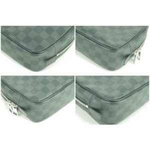 Louis Vuitton Damier Graphite Toilet Pouch Trousse GM toiletry Toilette 20LK0102