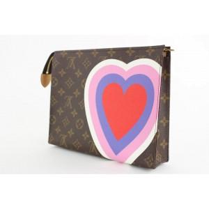 Louis Vuitton Game On Monogram Heart Toiletry Pouch 26 Poche Toilette Bag 18LVS1210