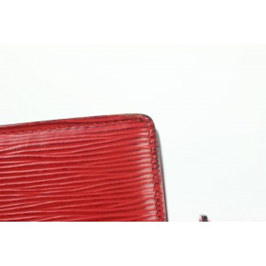 Louis Vuitton Toiletry Pouch Poche (Special Order) Epi 15 Toilette 10lz1002 Red Leather Clutch