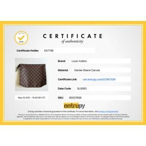 Louis Vuitton Ultra Rare Damier Ebene Toiletry Pouch 26 Poche Toilette 264lvs512