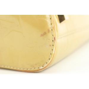 Louis Vuitton Yellow Monogram Vernis Tompkins Square Speedy Boston Bag 862825
