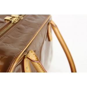 Tompkins Square Boston Copper 862143 Brown Monogram Vernis Leather and Calfskin Shoulder Bag