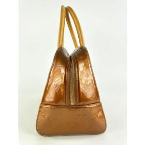 Louis Vuitton Bronze Vernis Copper Tompkins Square Boston Bag 862143