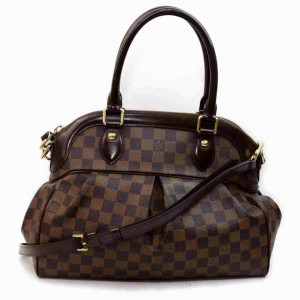 Louis Vuitton Damier Ebene Trevi PM Bowler with Strap Dome 860303