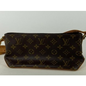 Louis Vuitton Trotteur Monogram 4la55 Brown Coated Canvas Cross Body Bag