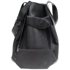 Louis Vuitton Sac D'epaule Twist Bucket Hobo Noir with Pouch 869137 Black Leather Shoulder Bag