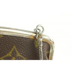 Louis Vuitton Monogram Kisslock Pouch French Twist Clutch