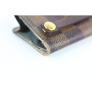 Louis Vuitton (Ultra Rare) Damier Ebene Multicles Key Holder 6le1223 Brown Coated Canvas Clutch