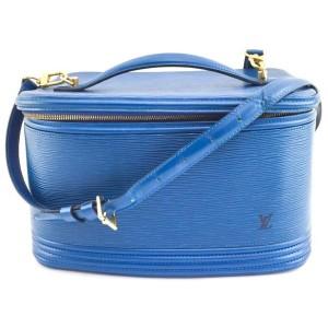 Louis Vuitton Blue Epi Toledo Nice Vanity Case with Strap 860761
