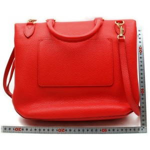 Louis Vuitton 872270 Red Taurillon Leather Volta Flap 2way