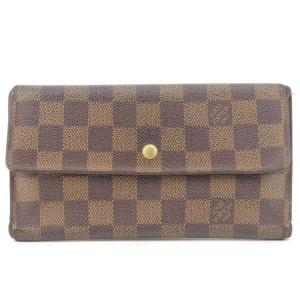 Louis Vuitton Damier Ebene Sarah Porte Tresor International 5LK1129
