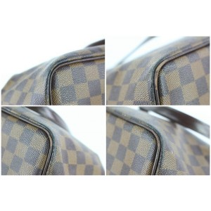 Louis Vuitton Westminster Damier Ebene Gm Zip 8lz0125 Brown Coated Canvas Tote