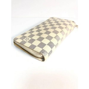 Louis Vuitton White Damier Azur Organizer Zippy Zip Around Continental 235504 Wallet