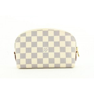 Louis Vuitton Damier Azur Comsetic Pouch Demi Ronde 398lvs527