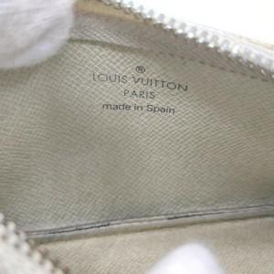 Louis Vuitton Damier Azur Key Pouch Pochette Cles Keychain Coin Case 861728