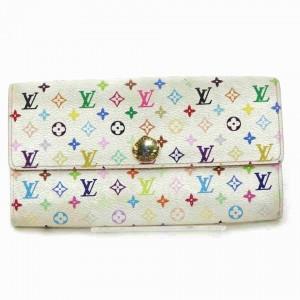 Louis Vuitton Multicolor White Sarah Long Wallet Portefeuille 867364