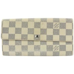 Louis Vuitton Damier Azur Porte Tresor Sarah Long Wallet 307lvs514