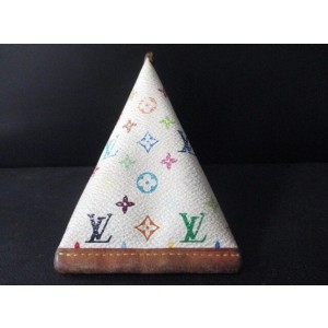 Louis Vuitton White Monoram Multicolor Blanc Berlingo Coin Pouch Lvtl142 170613 Wallet