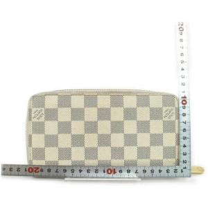 Louis Vuitton Damier Azur Long Zippy Wallet Zip Around Continental Clutch 861286