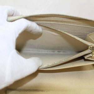 Louis Vuitton White Zippy Organizer Damier Azur Long Zip Around 871029 Wallet