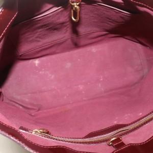 Louis Vuitton Amarante Monogram Vernis Bordeaux Wilshire MM Tote Bag 862348
