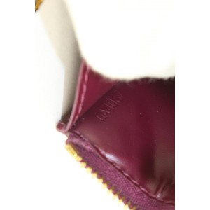 Louis Vuitton Amarante Monogram Vernis Key Pouch NM Pochette Cles Keychain 7lvs421