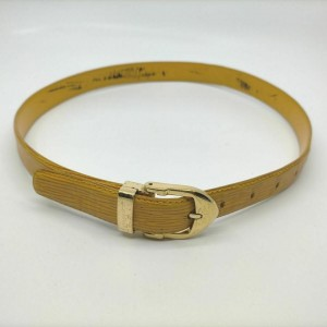 Louis Vuitton Yellow Epi Leather Ceinture Belt 861749