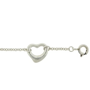 Tiffany & Co. Sterling Silver Elsa Peretti Open Heart Bracelet